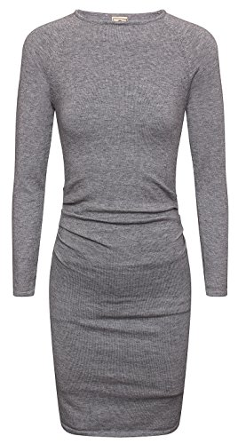 CANALSIDE Bodycon Sweater Dresses For Women Fitted Long Sleeve Scoop Neck Knit Wear (Knit Neck Sweater Scoop Dress)
