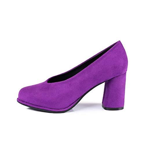 Sandales Inconnu Violet 5 Compensées 36 MMS06362 Femme Violet 1TO9 Eqq6a