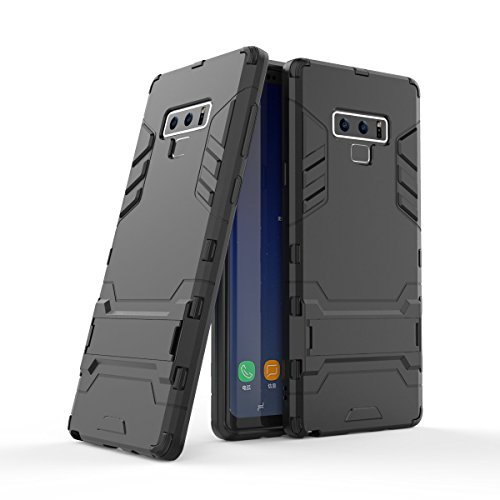 UZER Shockproof Hybrid Dual Layer Hard Cover PC + Soft Silicone Interior Scratch Protective Combo Armor Defender Full Body Protective Case with Kickstand for Samsung Galaxy Note 9 ()