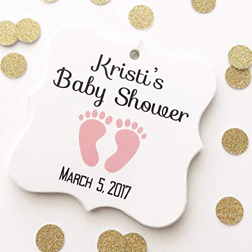 393 Mint (Baby Feet Shower Favor Hang Tags (FS-393))