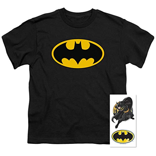 Youth Tee Batman - Batman Classic Logo Youth T Shirt (Medium) Black