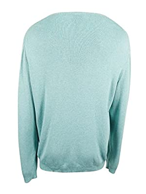 Calvin Klein Plume Mens Alfonzo V-Neck Sweater Blue 2XL