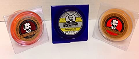 Col. Conk All Natural Shave Soap South Western Sun + Traditional Amber and Bayrum 2.25 Ounces (Variety 3 - Conk Shave Soap