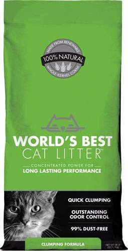 World's Best Cat Litter, Clumping Litter Formula, 28-Pounds Blue Paw Paw Tracks