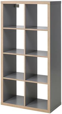 Ikea Kallax - Estantería de madera con gamuza de limpieza, color gris