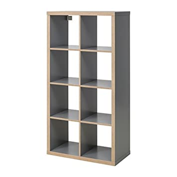 Amazon.com: Ikea Kallax Shelving Unit, Gray, Wood Effect ...