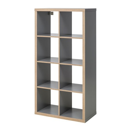 Ikea Kallax Shelving Unit, Gray, Wood Effect Bundle for sale  Delivered anywhere in USA
