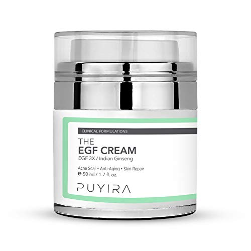 - PUYIRA EGF Healing Moisturizer Cream, 1.7 fl.oz, For dark spot and acne scar -Improvements in Skin Texture