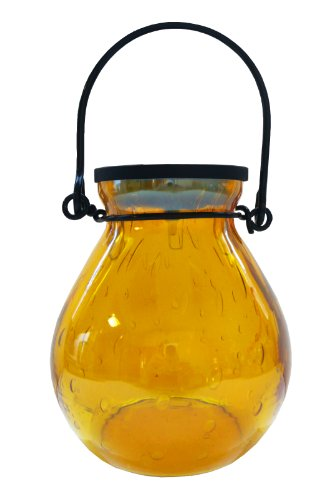 UPC 035286306775, Allsop Home and Garden Solar Bubble Glass Lantern, Amber, 1-Count