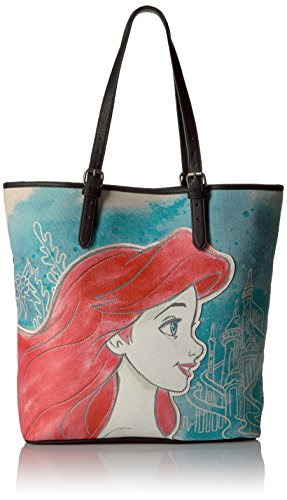 - Loungefly Disney Ariel Printed Faux Leather Tote, Multi