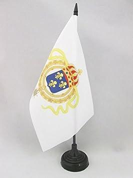 AZ FLAG Bandera de Mesa del VIRREINATO Francia 21x14cm - BANDERINA de DESPACHO COLONIAS FRANCESAS DE