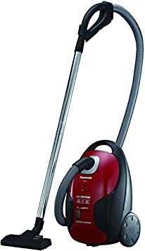 Panasonic MC CJ911R747 Electric Canister Vacuum Cleaner, Red