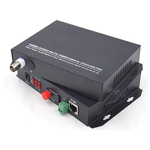 - Primeda-telecom 1 Channels Video and Ethernet Over Fiber Optic Media Converters, Singlemode Fiber up 20Km (Include Transmitter and Receiver) for for Video Surveillance System