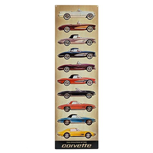 - Open Road Brands 90153574 Corvette Stacked Collage Embossed Tin Sign Garage Decor
