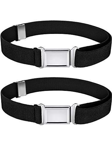 Kids Magnetic Belt Adjustable Elastic Belt with Magnetic Buckle for Boys Daily Use Girls (Color Set 1, 2)