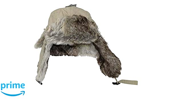 966d584c7c0 Woolrich Men s Adjustable Winter Tropper Style Hat (Khaki