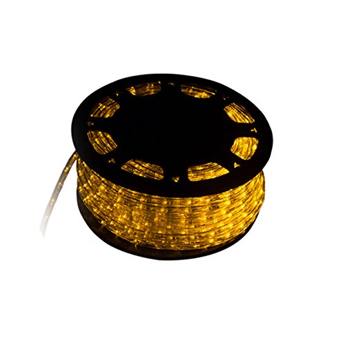 (Wal Silverylake 45M 150FT 1620 LEDs Rope Light Home in/Outdoor Christmas Decorative Party Lighting (Yellow))