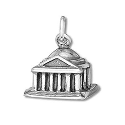 Sterling Silver 3D Jefferson Memorial Washington DC Travel Charm Item #42438