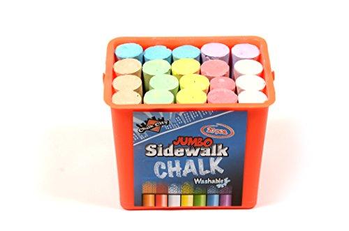 Chalk City - 20 Piece Jumbo Washable Sidewalk Chalk