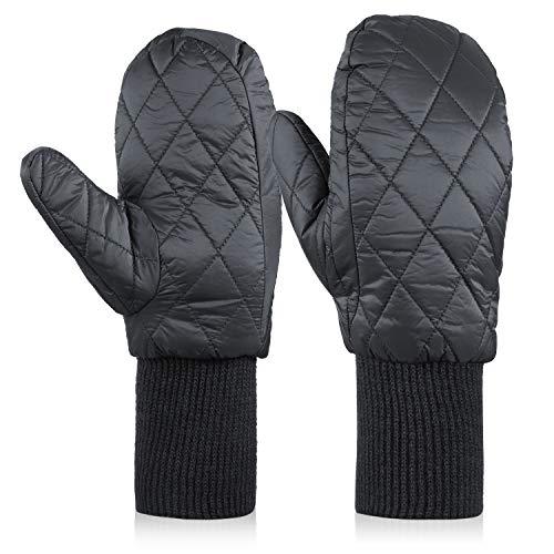 絶望的なそして寛容な90% ダウン 撥水加工 袖付き 防水フィルム入り 防寒 軽量 暖かい 防風 袖リブ 手袋 てぶくろ グローブ 冬 自転車 通勤 通学 女性 レディース ミトン