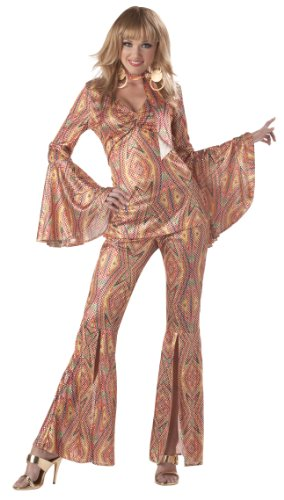 Lady Justice Halloween Costume (California Costumes Women's Discolicious,Multi,Medium)