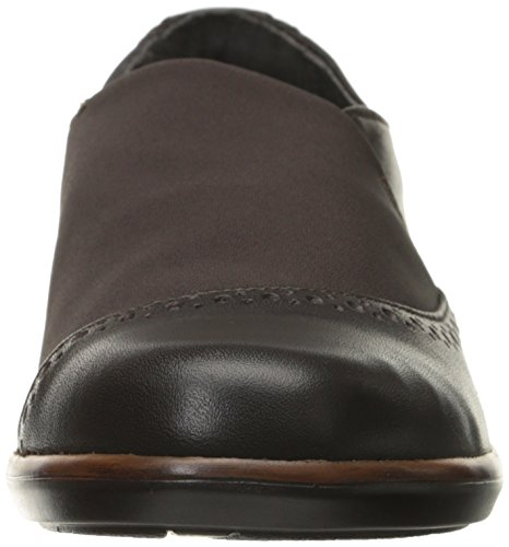 Naot Womens Talas Mary Jane Flat French Arrosto In Pelle / Marrone Stretch