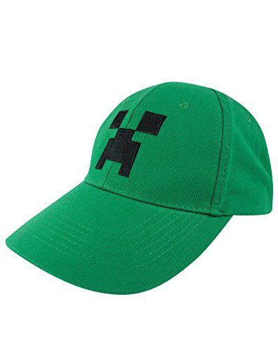 Official Minecraft Creeper Face Snapback Cap (M-L) (Minecraft Creeper Cap compare prices)