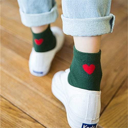 QYY Cómodo de Llevar 5 Pares de Calcetines de algodón corazón ...