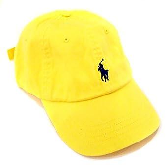 924cdf99bf1 Polo Ralph Lauren Pony Logo Hat Yellow Navy at Amazon Men s Clothing ...