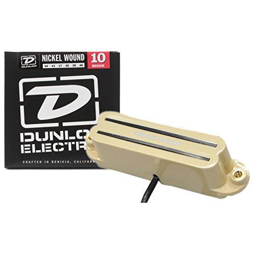 Seymour Duncan SHR-1b Hot Rails for Strat Bridge Humbucker Guitar Pickup Cream w/ Strings