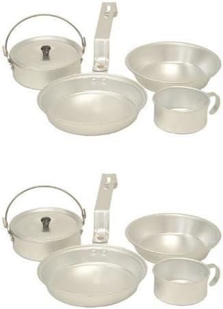 COLEMAN - Juego de utensilios de cocina de aluminio para campamento - Taza, sartén, ollas y platos