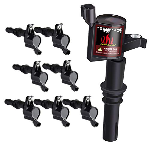 Pack of 8 Straight Boot Ignition Coils for Ford Lincoln Mercury V8 V10 4.6l 5.4l 6.8l Compatible with DG511 C1541 FD508
