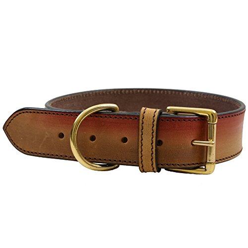 PetSutra Leather Dog Collar Aurora – Adjustable Premium Handmade Fashion Collar (Large) by PetSutra