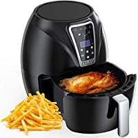 Muzili Air Fryer, Digital Mini Air Fryer 6-in-1 Oil Free Healthy Fryer Family-Size Capacity Oven/Cooker for Low Fat...