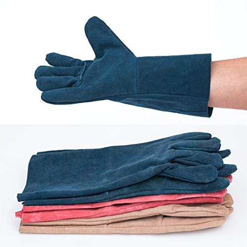 Goquik TIG Welder Protective Gloves and Long Leather Gloves, Wear-Resistant Insulation and Anti-scalding, 33cm, 10 Pairs, Random Colors by Goquik (Image #6)