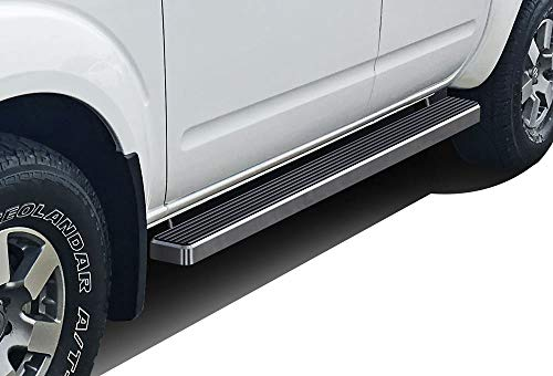 APS iBoard Running Boards 4 inches Custom Fit 2005-2019 Nissan Frontier Crew Cab Pickup 4-Door (Nerf Bars Side Steps Side Bars)