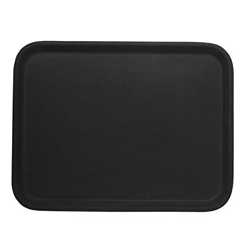 Fagor Gastro Serviertablett Tablett Rechteckig Antirutsch Fiberglas Schwarz (40x56 cm)