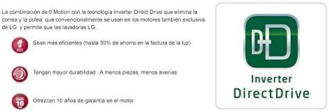 LG F14A8FDA7 - Lavadora (Independiente, Acero inoxidable, Frente ...