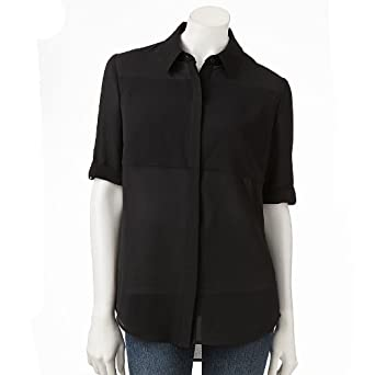 94cf211614be10 Image Unavailable. Image not available for. Color  Apt. 9 Solid Crepe Blouse  - Women s