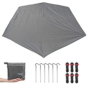 MAGARROW Travel Outdoor Tent Tarp Camping Accessories Cover Stakes Ground Cloth Rain Footprint Shelter Waterproof for Camping Travel Climbing Accessories