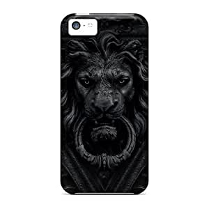 Anti-scratch And Shatterproof Lion Door Knocker Phone Case For Iphone 5c/ High Quality Tpu Case