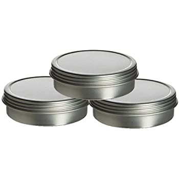 Shallow Screw Top Tin Can. Great for Storing Small Food Items, Condiments