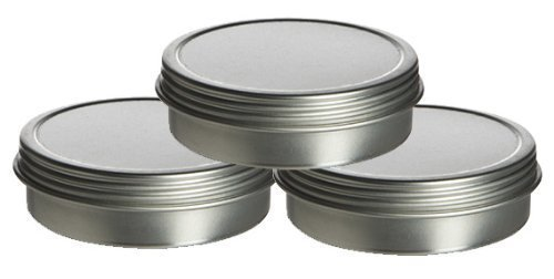 2oz. Shallow Screw Top Tin Can. Great for Storing Small Food Items, Condiments, Spices and More (6 Tins)