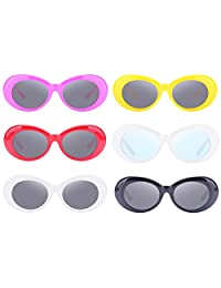 Retro Oval Mod Thick Frame Clout Goggles Kurt Cobain Sunglasses (6-sunglasses)