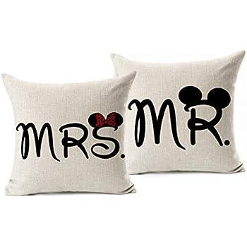 Amazon.com: arundeal Señor y Señora 18 x 18 inch Par Lino y ...