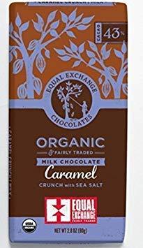 Equal Exchange Organic Caramel Milk With Sea Salt Crunch Chocolate 43% Dark Bar, 6 pack