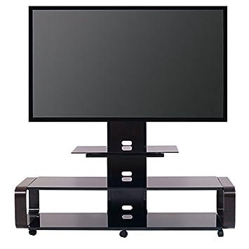 TransDeco TD685ES TV Stand for 35-85 TV, Espresso Black