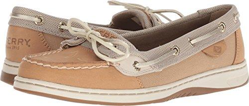 - Sperry Women's, Angelfish Boat Shoes Metallic Linen 8 M