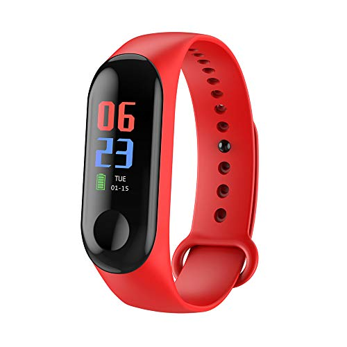 Fitness Tracker Waterproof,Miya Activity Tracker Watch Colorscreen Sport Smart Watch,Smart Bracelet with Heart Rate Blood Pressure Calories Pedometer Sleep Monitor Step Counter for Cellphone - Red by MIYA LTD