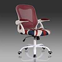 Adjustable Kids Desk Chair With Armrest,Study Office Chair Computer Chair Swivel Task Desk Seat Lumbar Support Mesh-C 45x57x94cm(18x22x37)